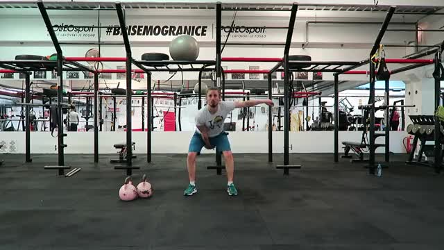 Single-Arm Kettlebell High Pull demonstration