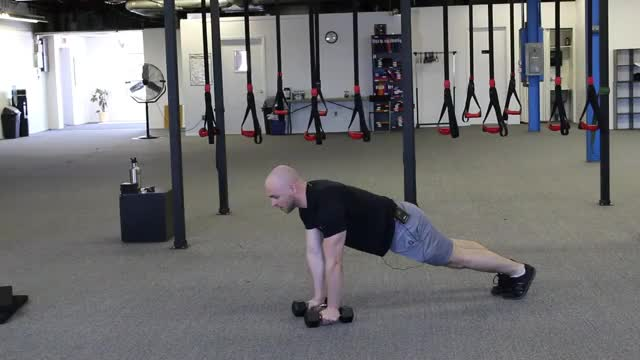 Dumbbell Burpee demonstration
