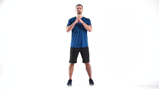Squat and Side Kick demonstration