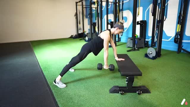 Female Three Point Plank demonstration