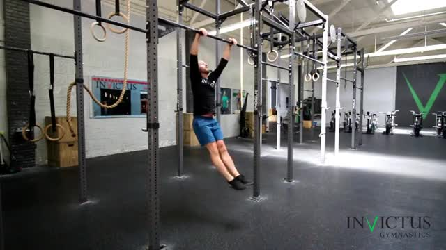 Male Pull-up (with kip) demonstration