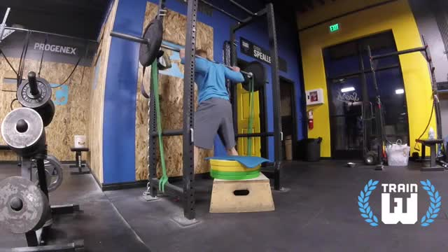 Box Squat with Bands demonstration