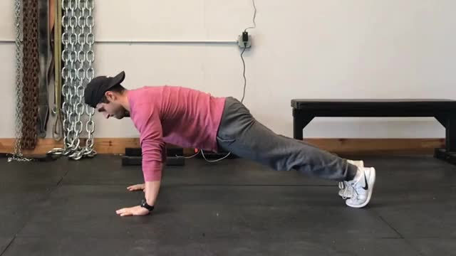 Male Eccentric Only Push Up demonstration