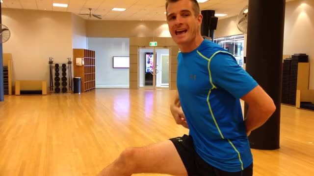 Leg-Up Hamstring Stretch demonstration