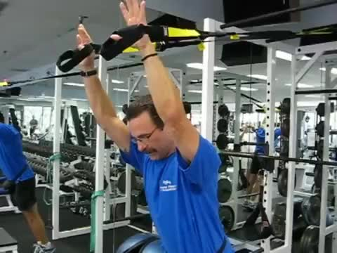 Suspended Triceps Press demonstration