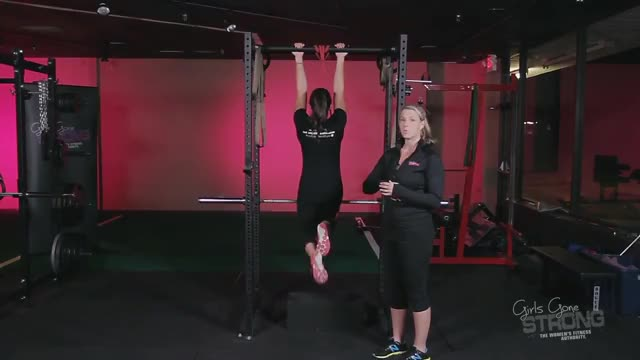 Female Resistance Band Assisted Pull Up (From Foot) demonstration