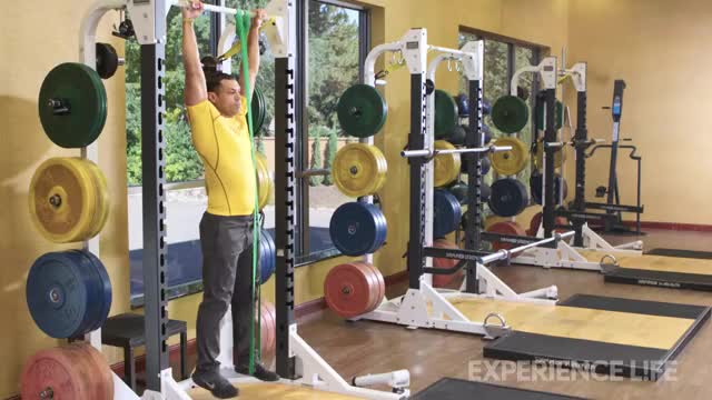 Resistance Band Assisted Pull Up (From Foot) demonstration