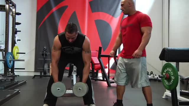 Bent Over Two-Dumbbell Row demonstration