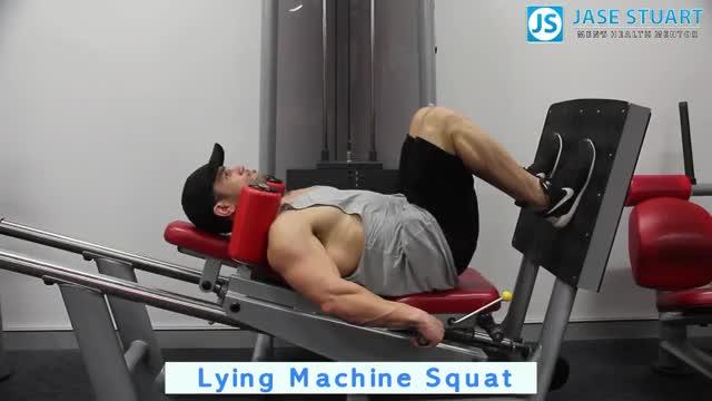 Lying Machine Squat demonstration