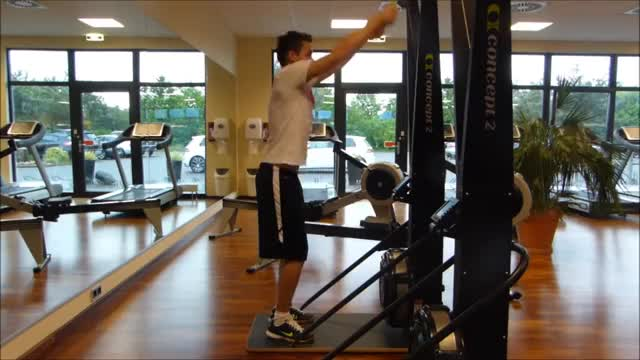 Male Ski Ergometer demonstration
