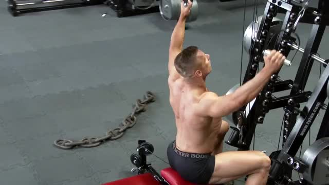 Male Cable Pulldown (stirrups) demonstration