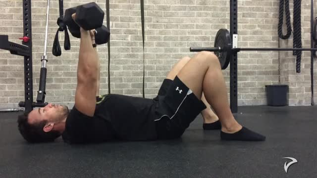 Dumbbell Floor Press demonstration
