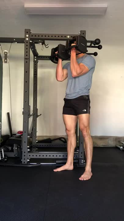 Dumbbell Supinated Grip Front Squat demonstration