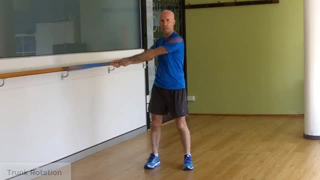 Banded Trunk Rotation demonstration