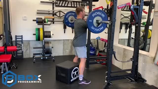 Front Box Squat demonstration