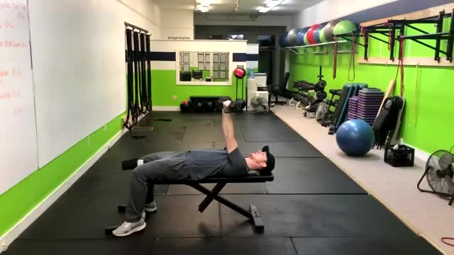 Reverse Dumbbell Bench Press demonstration