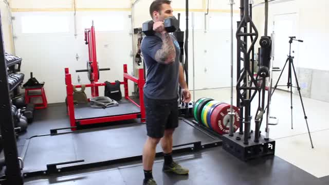 One-Arm Push Press demonstration