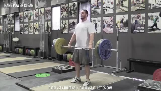 Male Hang Power Clean demonstration