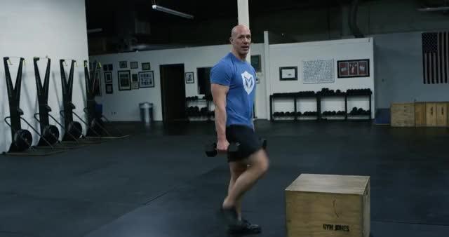 Dumbbell Step-Up demonstration