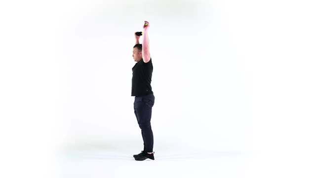 Reverse Lunge with Twist and Overhead Reach demonstration