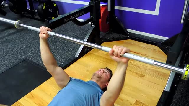 Barbell Floor Press demonstration