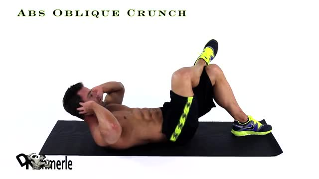 Oblique Crunches - On The Floor demonstration