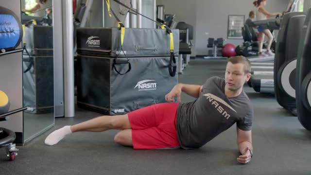 Modified Side Plank with Hip Abduction demonstration