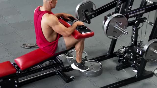 Male Lever Seated Calf Raise demonstration
