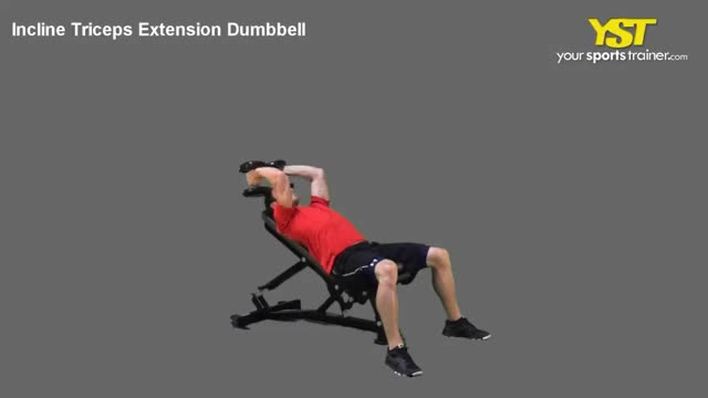 Dumbbell Incline Triceps Extension demonstration