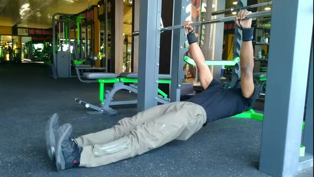 Male Hanging Straight Hip Leg Curl demonstration