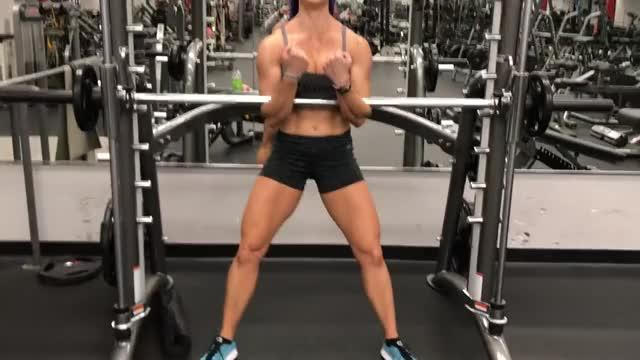 Female Smith Machine Zercher Squat demonstration