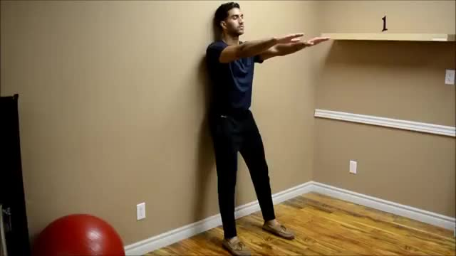Wall Squat demonstration