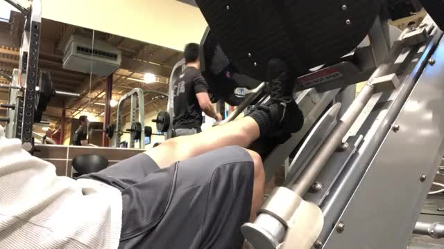 One Leg 45 Degree Calf Raise demonstration