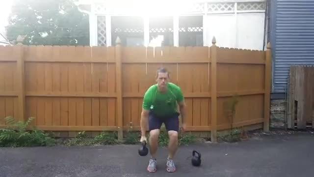 Suitcase Kettlebell Deadlift demonstration