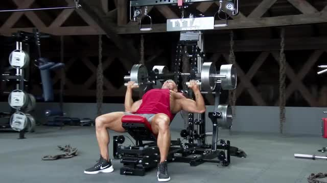 Male Lever Incline Bench Press (plate loaded) demonstration