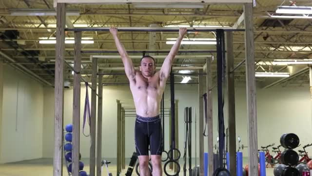 Male Wide Grip Chin Up demonstration
