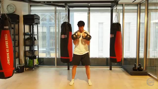 Double Kettlebell Clean demonstration