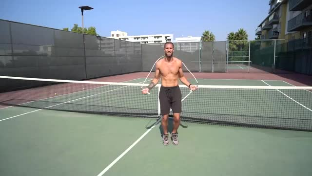 Male Jump Rope: Boxer Step demonstration