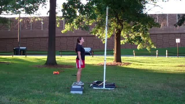 Female Vertical Depth Jump demonstration