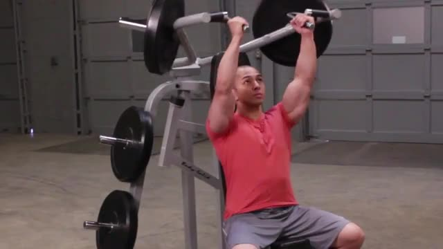 Leverage Shoulder Press demonstration