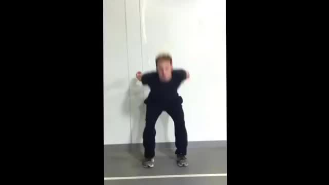 Squat Jump with Stabilization Transverse demonstration