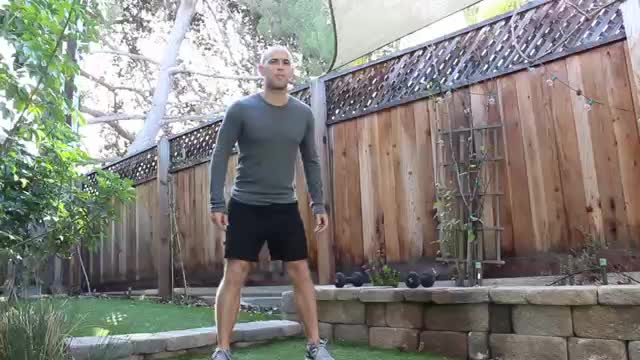Squat Pulse Jumps demonstration