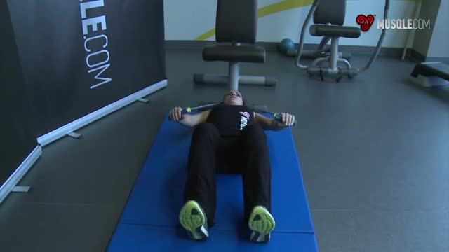 Weighted Sit-Ups - With Bands demonstration