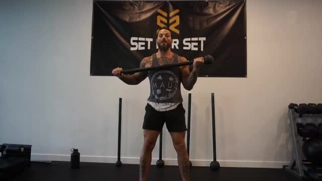 Steel Mace Rotate to Punch to Curl demonstration