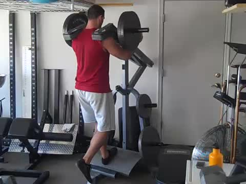 Lever Barbell Rear Lunge (plate loaded) demonstration