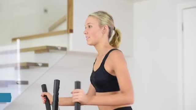 Female Elliptical Cross-Trainer demonstration