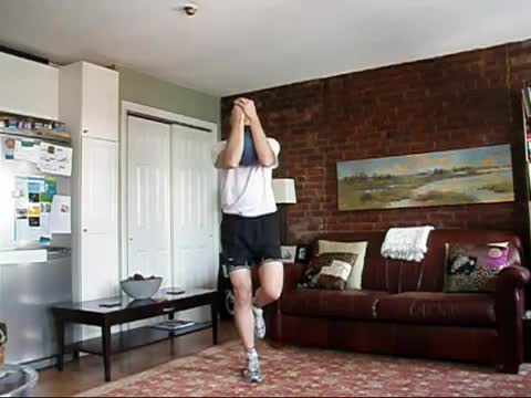 Weighted Single Leg Squat demonstration