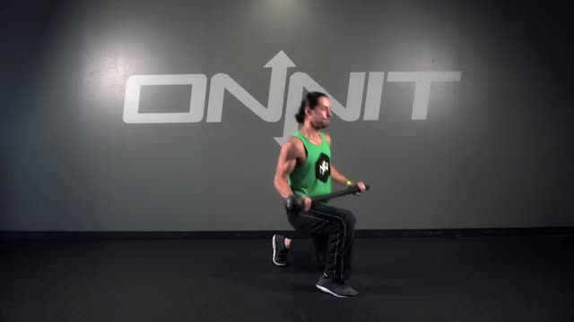 Alternating Switch Lunge Steel Mace Exercise demonstration