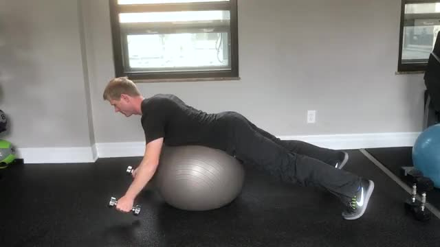 Male Seated Rear Flies (on Stability Ball) demonstration