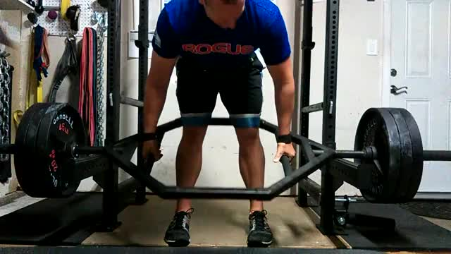 Trap Bar Rack Pull demonstration